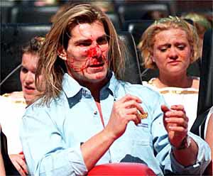 Fabio Gets Goosed, one of my all time favorite pictures.